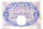 11501 - 50 FRANCS BLEU & ROSE - Type 1889