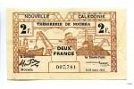 25892 - 2 FRANCS Brun & Noir Docks  NOUMEA
