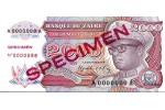 29330 - 2000 Zaires Mobutu & Statuette en Bois  SPECIMEN