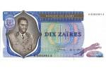 29338 - 10 Zaires Président Mobutu &  Torche    *    *