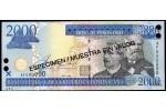 29756 - 2000 Pesos Oro    E.Prud'Homme-J.Reyes SPECIMEN