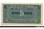31374 - 5 Kroner Bleu  Série AO (écriture  au revers) PROMO
