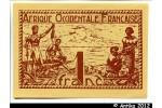 33055 - 1 FRANC Brun roux  AOF Gouvernement Provisoire