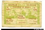 33114 - 5 FRANCS Cerf-Croix de Lorraine NOUMEA