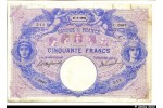 33174 - 50 FRANCS BLEU & ROSE - Type 1889
