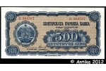 33689 - 500 Leva Bleu Noir Armoiries & Paysannes