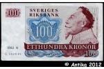 34573 - 100 Kronor Portrait Roi Gustav II    Série A-N-R    *    *   *   *   *  PROMO