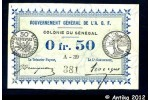 35817 - 0,50 FRANC Vert  Gouvernement Général AOF
