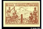 35822 - 1 FRANC Brun roux  AOF Gouvernement Provisoire