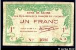 35851 - 1 FRANC Bon de Caisse Etabissement  Océanie
