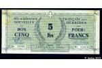 35905 - BON 5 FRS Bleu s/papier Vert Croix de Lorraine