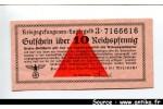 43840 - 10 Reichspfennig Orange   *     *    PROMO
