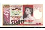 44916 - 5000 Frs/1000 Ariary Jeune femme