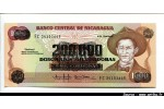 44950 - 200000 Cordobas S/1000 Cordobas A.C Sandino   *  *  *  *  *   *