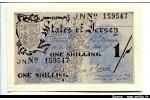 50057 - 1 Shilling Marron gris (Déchirure coin gauche inf sinon Neuf)