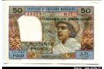 50153 - 50 FRANCS -10 ARIARY  Femme