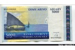 55011 - 5000 Ariary Petit Voilier  PROMO   *    *     *     *    *    *     *