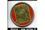 55044 - 25 Centimes Bleu Monnaie Timbre Banque de L'Indochine NOUMEA  RARE