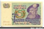 55125 - 5 Kronor Gustav Vasa     *     *