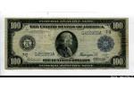 57724 - 100 Dollars Benjamin Francklin  Tampon Bleu PROMO   RARETE