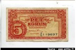 58038 - 5 Korun Rouge