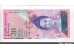 58057 - 20 Bolivares Luisa Caceres de Arismendi   *   *   *   *    *    *    *   *