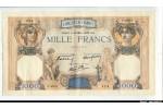 58731 - 1000 FRANCS CERES & MERCURE - Type 1927 modifié