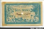 60185 - 2 FRANCS  Chambre Commerce ORAN