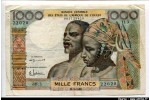 61477 - 1000 Francs Couple  Africain Sign 1  sans lettre de Pays  H.3
