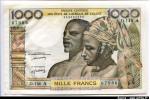 61819 - 1000 Francs Couple Africain A:Côte d'Ivoire