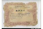 62142 - 1 FRANC (Chèque s/la Banque de Martinique)