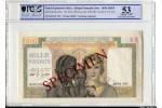 63507 - 1000 FRS  SPECIMEN Femme Blanche & femme & enfant africain