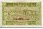 64092 - 80 Kronen s/20 Dinara Fermier cultivant la terre     *    *    *    *    *  PROMO RARE
