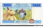 66019 - 1000 Francs Tracteurs & Tronc arbre  * * * * * * * * * * * *  A:Gabon