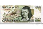 66122 - 200 Pesos Sœur Juana de Asbaje   Rare   NOUVEAUTE