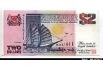 66201 - 2 Dollars  Voilier   *  *  *  *  *  *  *  *  *  *  *   *  *