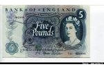 66258 - 5  Pounds Elizabeth II   Bleu  *     *