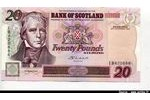 66283 - 20 Pounds Sir W.Scott & Biologiste Bank of Scotland  *  *