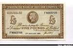 66307 - 5 Pounds Provincial Bank of Irland Limited   Caméo portrair Archaïque