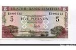 66308 - 5 Pounds Ulster Bank Limited Pont & Armoirie  *  *  *  *  *  *  *  *  *  *  *