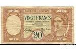 66436 - 20 Francs au Paon Banque de L' Indochine  Q.17