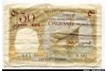 66444 - 50 Francs Cote Francaise des Somalis Voilier