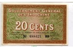 67324 - 20 CENTS Marron & Vert  Gvt Général