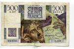 67358 - 500 FRANCS CHATEAUBRIAND - Type 1945