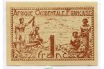 67423 - 1 FRANC Brun roux AOF Gouvernement Provisoire