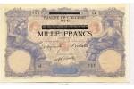 67434 - 1000 FRANCS sur 100 FRS Bleu & Rose