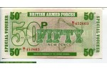 67687 - Lot de 3 Billets 5-10 & 50 New Pence British Armed Forces