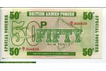 67688 - Lot de 3 Billets 5-10 & 50 New Pence British Armed Forces