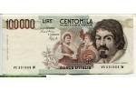 67766 - 100 000 Lire Caravaggio    *     *     *    *     *