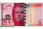 67815 - 100 Pounds Bank of Scotland  Sir Walter Scott  RARE
